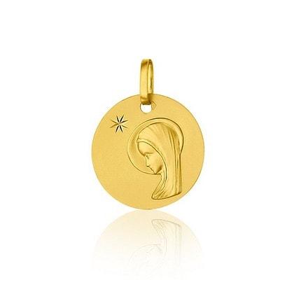 Médaille de baptême Vierge au voile